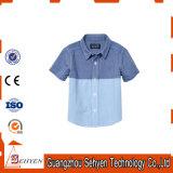 100% Cotton Children Kids Shirt with Short Sleeve