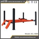 Ce Movable Four Post Hydraulic Car Parking Lift with 4-Wheel-Alignment