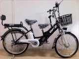 24inch Hot Selling Parent-Child Electric Bike Ebike E-Bike with Head and Rear Lighting