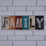 """Wood Letters""""Family"""" Wall Plaques Hanging Wooden Art for Housing Interior"""