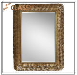 Rectangle Feather Shape Frame Cosmetic/Bathroom Wall Mirror