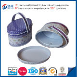 Tin Handle Oval Shape Tin Container Promotion Baby Gift