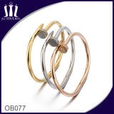 High Polish Stainless Steel Nail Bangle Gold Color