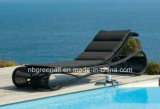 Outdoor Rattan Beach Sun Bed