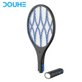 High Voltage Rechargeable Pest Control Killing 4000 Volt Single Layer Electric Fly Bug Zapper Fly Swatter Killer Mosquito Racket (DH-WP01L)