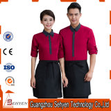 New Design Customized Comfortable Hotel Restaurant Waiter Uniform with Apron