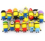 PVC / Silicone Cartoon Minion USB Flash Pen Drive Memory