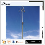 28m 30m 35m Communication Pole Monopole with Antenna and Microwave Dish
