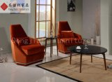 Home Hotel Furniture Red Leisure Velvet Chair Single Sofa