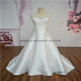 Satin Sleeveless A-Line Bridal Gown