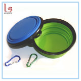 Pet Cat Food Water Feeding Portable Travel Bowl Free Carabiner