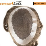 Custom Made Lace Human Hair Men′s Hair Replacement System