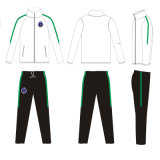 White Color with Green Strips Track Suit for Women Clothes