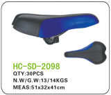 Blue and Black Leather MTB Saddle (SD-2098)