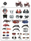 Hot Sell Motorcycle Ybr125 Body Parts for Honda