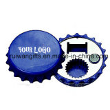 Cheap Promotional Bottle Cap Shaped Magnetic Bottle Opener with Logo Printed
