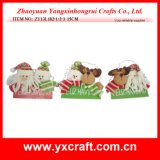 Christmas Decoration (ZY13L182-1-2-3 15CM) Christmas Wood Decoration