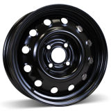 14X5.5 (4-100) Shiny Black Steel Snow Wheel