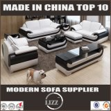 Fashion American Style Modern Leather Sofa with TV Stand