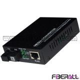 Gigabit Auto-Negotiation Wdm Media Converter with 1X9 Optical Transceiver 60km