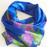 Custom Design Digital Printed Silk Scarves Lady 12mm Silk Long Scarf 165X56cm Sc001