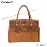 Handbag with Special Design Front Panel Punching Weaving Good Taste for Lady Women