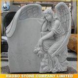 Top Carving Angel Sculpture Memorials Headstone for Sale