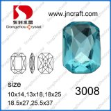 Rectangle Octagon Glass Beads for Jewelry