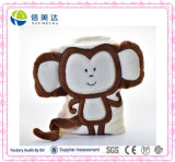 Super-Soft Baby Blanket with Plush Monkey Toy