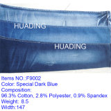 Horizontal Straight Bamboo Cotton High-Elastic Jeans Fabric in Denim (F9002)