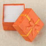 4*4*3cm Jewelry Earring Bracelet Ring Gift Boxes Black Square Carton Bow Case Assorted Color 10 Candy Colors