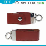 Leather Memory Pendrive Customize Logo USB Flash Drive (EL003)