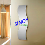High Quality Waterproof Decorative Wavy Mirror (SMI-AMG2003) in Customer Size with Double Coated Paint