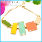 Candy Colors Rectangle Gold Bracelet #31459