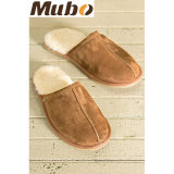 100% Natural Sheepskin Men Slippers