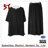 Fashion Simple Two Suits of Short T-Shirt Black Pants