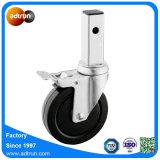 Medium Duty Square Stem Caster Rubber Scaffolding Wheel