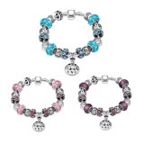 Promotional Gift Glass Round Beads Adjustable Bracelet Jewelry
