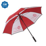 Durable Light Weight Fiberglass Women 30inch White Red Golf Umbrella