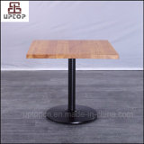 New Style Square Table Cafe Solid Wood Top Restaurant Table (SP-RT491)