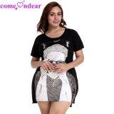 Factory Price Hot Selling Black Short Sleeveless Long T-Shirt Women Dresses