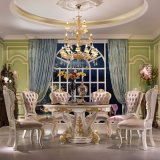 Dining Table in Variously Color with Rotary Marble Table Top (863)