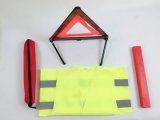 Car, Truck Visibility Roadside Emergency Kit, 1 X Warning Triangles, One Reflective Vest- Car Safety Tools.