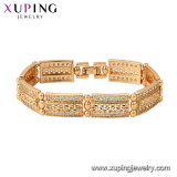 Xuping 18K Gold Plated Luxury Style Fashion Charm Bracelet for Women