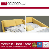 New Fashion Style Bedroom Furniture Wooden Frame Yellow Fabric King Size Bed