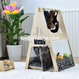 Pet Supplies Large Wooden Pet Tent Bed for Travel or Home W06f076