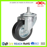 "6"" Black Rubber Swivel Screw Industrial Caster (L101-11D150X40A)"