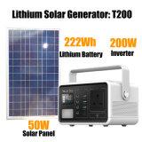 100V-240V 200W 20ah Portable Solar Power Generator for Surival Camping Hiking