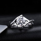 Factory Direct Wholesale White Cubic Zirconia 925 Sterling Silvery Fashion Ring Jewelry