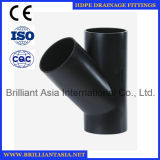 45degree Y Type HDPE Siphon Drainage Fitting HDPE Drainage Fitting Y Type Drainage Reducing Fitting HDPE Fittings PE Skew Fot Bathroom Drainage Fitting